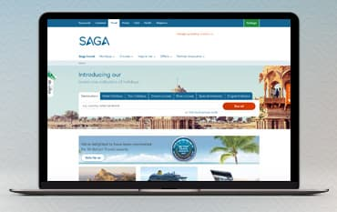 Saga Holidays store front