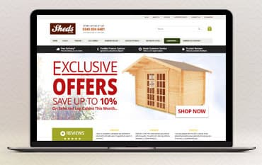Sheds.co.uk store front