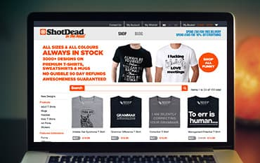 Shot Dead In The Head store front