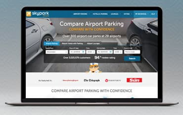 SkyParkSecure Airport Parking store front