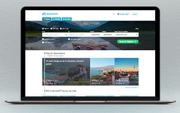 Skyscanner store front