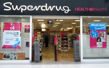 Superdrug store front