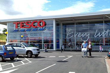 Tesco Groceries store front
