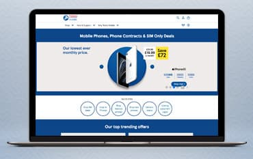 Tesco Mobile store front