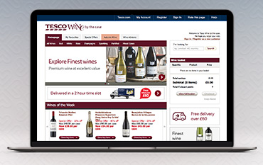 Tesco Wines store front
