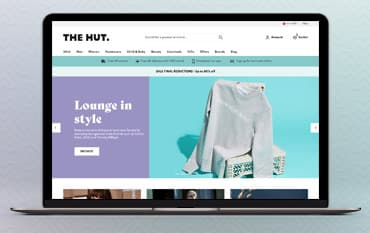The Hut store front