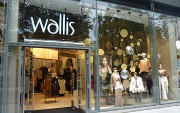 Wallis store front